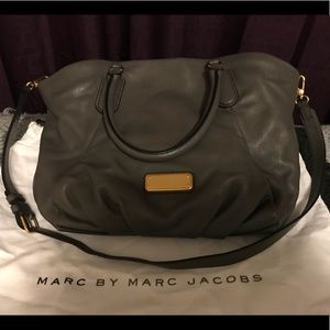 EUC Marc Jacobs Leather Fran Bag Satchel Charcoal
